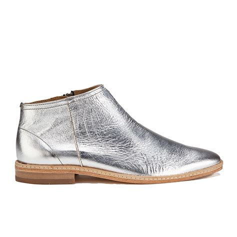 Shoe La La Silver Ankle Boots For by Hudson S Shift Leather Ankle Boots Silver