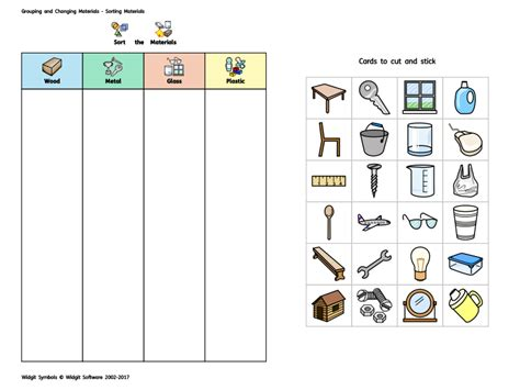 kindergarten activities without materials widgit materials sorting activity by widgit software