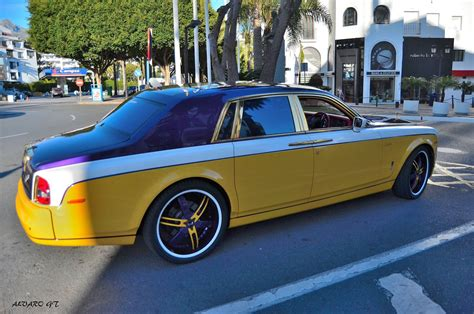 gold rolls royce pablo rabiella rolls royce phantom spotted in puerto banus