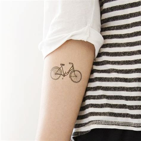 picture of black bicycle tattoo