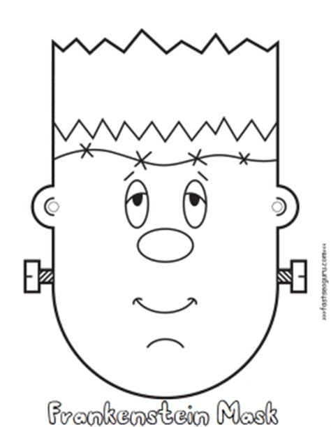 printable halloween cut out masks halloween frankenstein mask cut out coloring pages