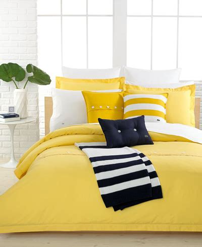 Lacoste Duvet Lacoste Solid Lemon Drop Brushed Twill Bedding Decor By