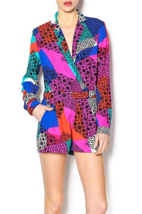 mustard seed colorful romper from manhattan by dor l dor