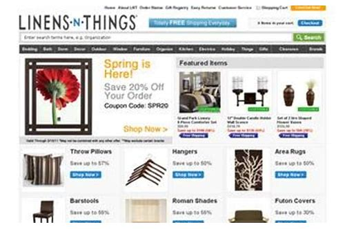 linen and things in store coupon