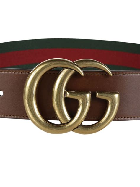 gucci gucci web belt with g buckle green green s belts italist