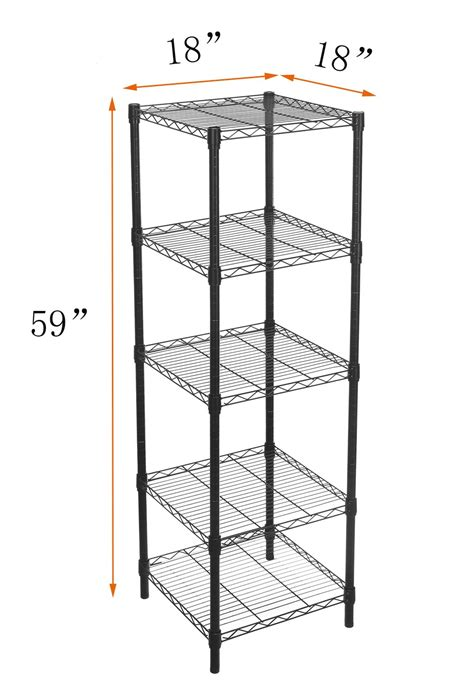 adjustable wire shelving hollyhome 5 shelves adjustable steel wire shelving rack in small space or room ebay