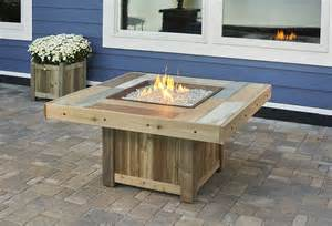 Gas Firepit Tables Vintage Square Gas Pit Table Vng 2424brn
