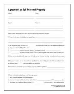 agreement to sell personal property forms and instructions