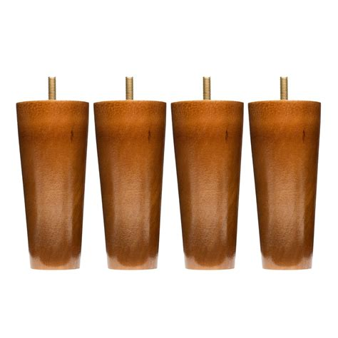 furniture leg extenders wooden sofa legs set of 4 5 inch replacement solid wood