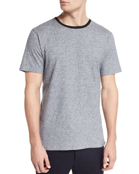 Tshirt Kaos Bone rag bone jaxx speckled sleeve t shirt in blue for
