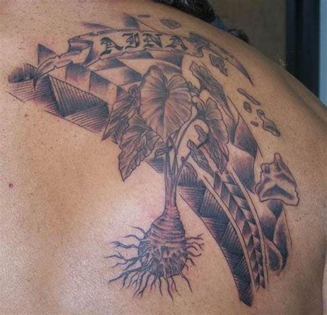 hawaiian island tattoo designs taro hawaiian islands for the