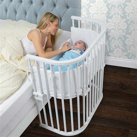 crib that connects to bed bedside co sleeper that attaches to parents bed babybay 174