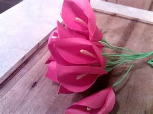 How Make To Paper Flower - calla paper flowers dhea fatbolous world