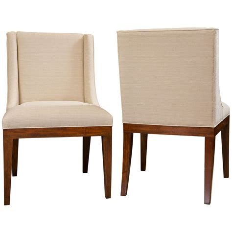 Dining Room Set Upholstered Chairs Set Of 6 Classic Modern Upholstered Dining Chairs At 1stdibs