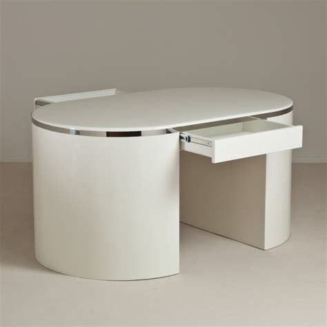 a sided white lacquered desk 1980s at 1stdibs
