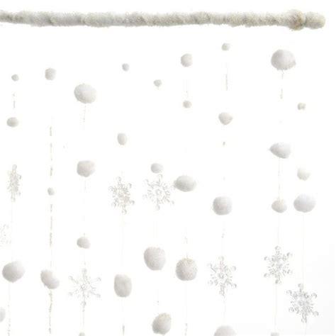 Rideau De Noel by Rideau De No 235 L De Fen 234 Tre Flocons Et Boules De Neige
