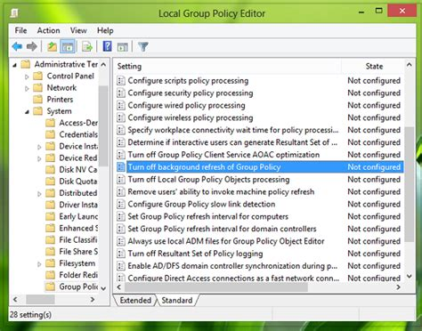 desktop wallpaper via group policy disable or turn off group policy refresh while computer is