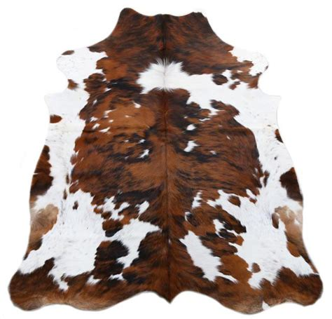 Colored Cowhide Rugs - tri color spotted cowhide rug l cowhide imports