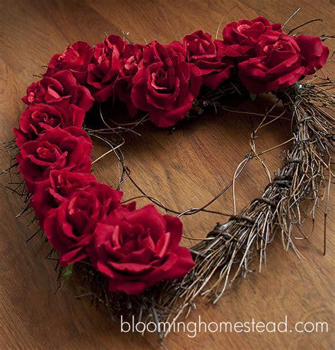 diy valentines wreath wreath diy blooming homestead