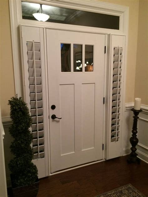 Front Door Treatments Sidelight Doors Single 36 Quot Inch Entry Door With 2 Sidelights And Screen For 6 Foot Opening