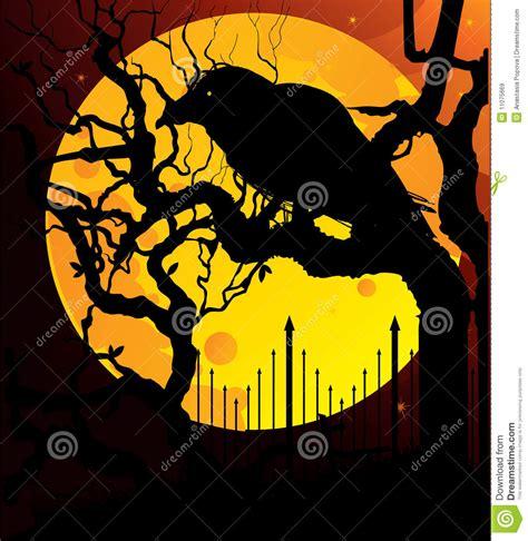 imagenes libres luna cuervo en la luna amarilla