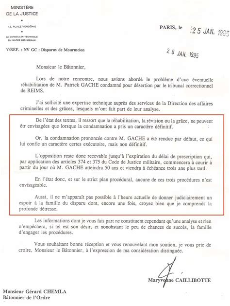 Exemple De Lettre Adressée Au Ministre De L Intérieur Disparus De Mourmelon Courriers