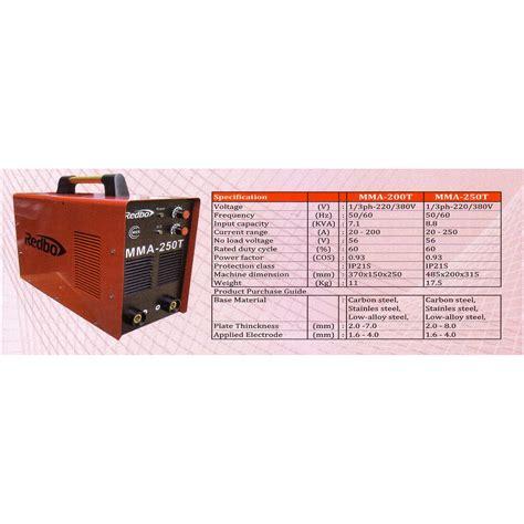 Mesin Las Redbo 250a harga jual redbo mma 250t mesin las