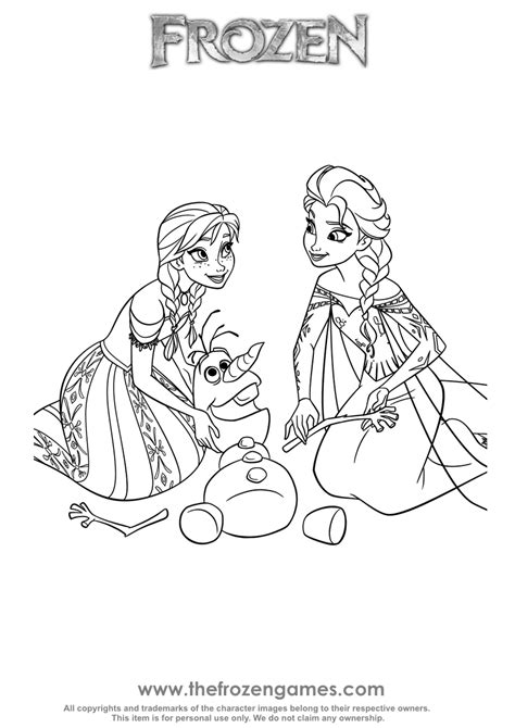 coloring pages frozen games anna and elsa olaf rescue frozen games