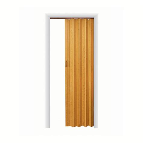 Spectrum Accordion Doors by Spectrum Express One 36 In X 96 In Vinyl Oak Accordion