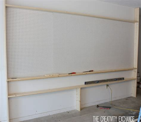 Garage Storage Board Tutorial For Organizing The Garage With A Pegboard Storage