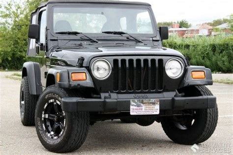 sell used 2002 jeep wrangler x 4wd 6 cyl automatic air conditioner rear seat one owner in