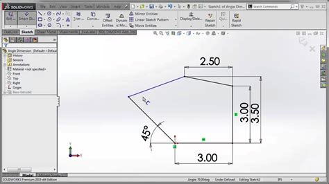 tutorial of solidworks 2015 tech tip solidworks 2015 tutorial improved angle