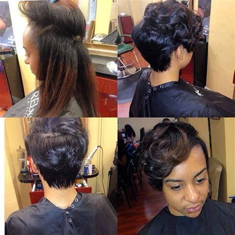 short pressed hairstyles natural hair cut and pressed michrich2 black hair