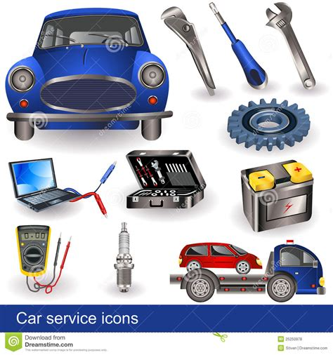 car service car service icons stock vector illustration of truck