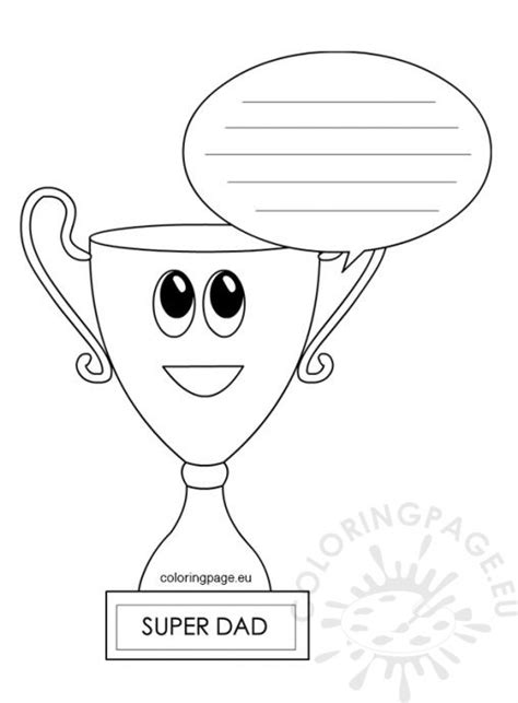 Trophy Card Template by S Day Coloring Page
