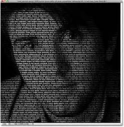 create a portrait from text photoshop tutorial