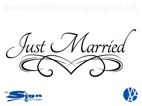 Just Married   Vinyl   Wall Art Company