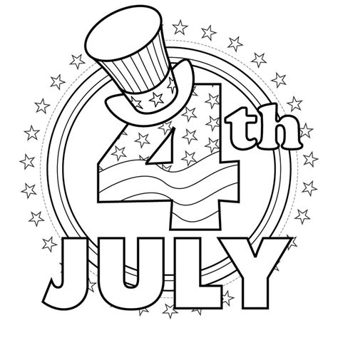 July 4 Coloring Pages free coloring pages fourth of july coloring pages