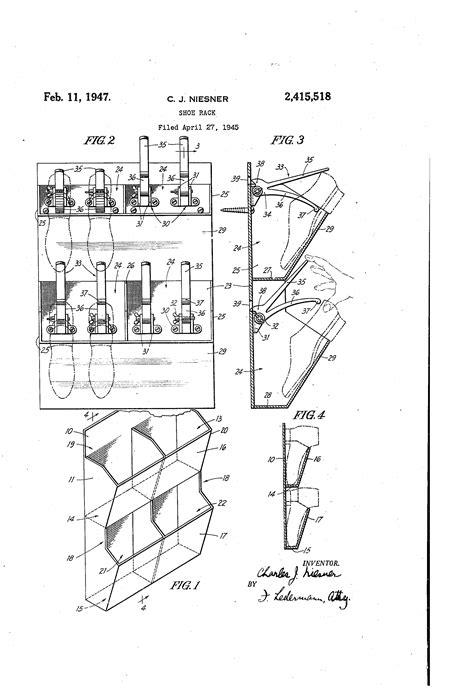 Patent US2415518   Shoe rack   Google Patents