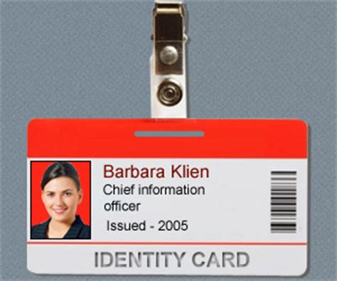 company badge template id card software design student employee school