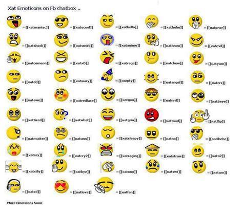 emoticons printable list xat emoticon di facebook frozty kage