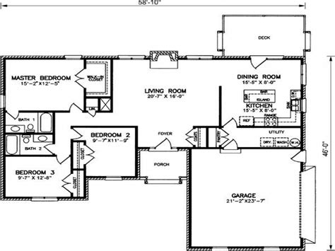 ranch style house plan 2 beds 2 5 baths 1500 sq ft plan 2 bedroom ranch style house plans tuscan bedroom colors