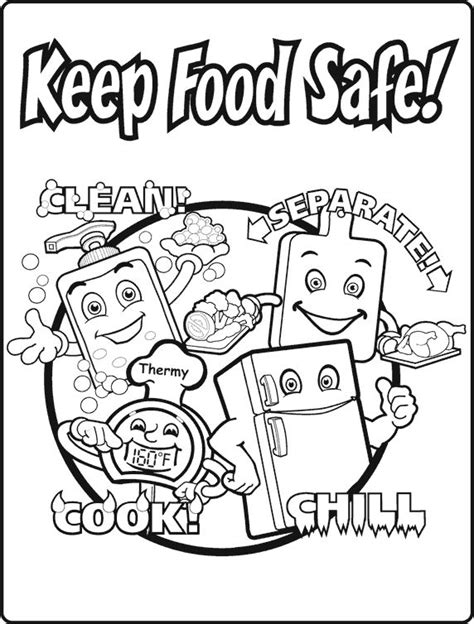 coloring pages for food safety 11 best images of food safety printable worksheets