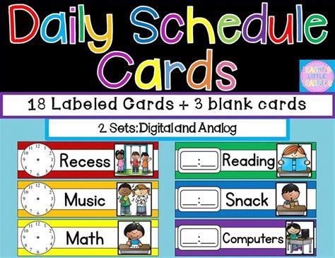 Pre K Schedule Cards Printable