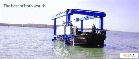 boat lifts for sale uk wise handling limited boat hoist and industrial hoist