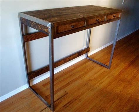 standing desk with drawers easy pallet standing desk pallet furniture diy