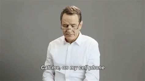 bryan cranston gif me ring me up gif bryancranston hotlinebling parody