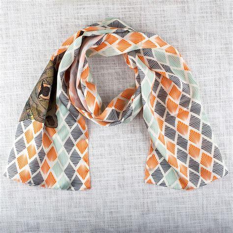 custom printed real silk scarves hemmed personalised silk