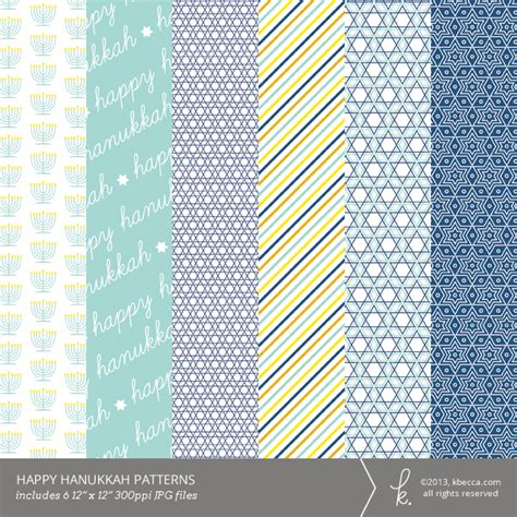 paper pattern of viteee 2014 happy hanukkah digital printable patterns