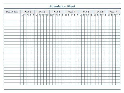 attendance roster template business template
